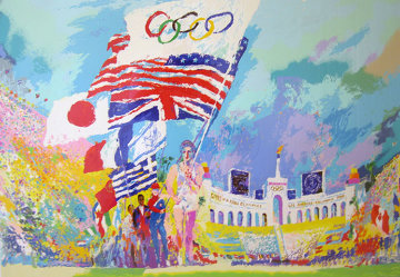 Opening Ceremonies PP 1984 Limited Edition Print - LeRoy Neiman