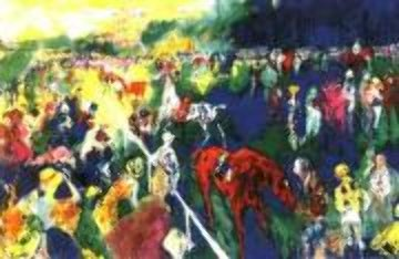 Paddock at Chantilly AP 1992 Limited Edition Print - LeRoy Neiman
