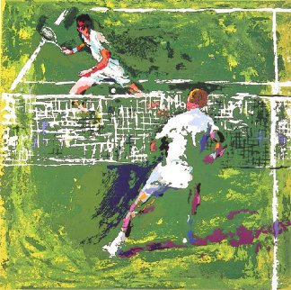Tennis Players 1971 Limited Edition Print - LeRoy Neiman