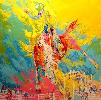 Bucking Bronco 1977 Limited Edition Print - LeRoy Neiman