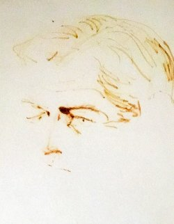 Ted Kennedy 1969 Drawing 22x26 Drawing - LeRoy Neiman