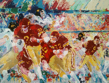 Iowa Vs Minnesota 1983 Limited Edition Print - LeRoy Neiman