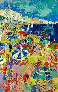 Beach At Cannes 1979 Limited Edition Print - LeRoy Neiman