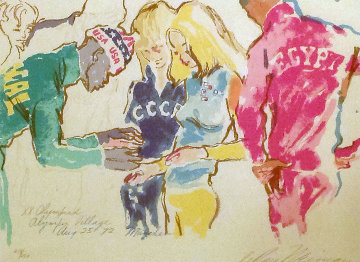 Exchanging Pins 1972  Limited Edition Print - LeRoy Neiman