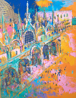 Piazza San Marco 1972 Limited Edition Print - LeRoy Neiman