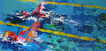 Swimmer From Olympic Suite AP 1986 Limited Edition Print - LeRoy Neiman