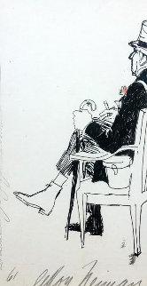 Proprietor At Long Champ Drawing 1961 20x16  Drawing by LeRoy Neiman