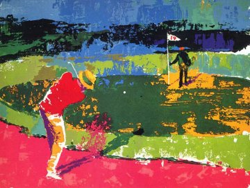 Chipping on 1972 Sam Snead Limited Edition Print by LeRoy Neiman