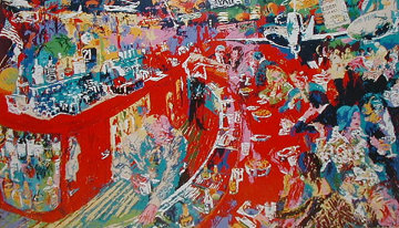 Bar at 21 AP 1974 Limited Edition Print - LeRoy Neiman