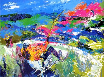 Marlin Fishing AP 1981 Limited Edition Print - LeRoy Neiman
