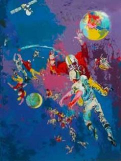 Satellite Football Limited Edition Print - LeRoy Neiman