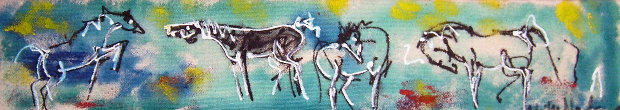 Untitled Horses 1997 3x17 in