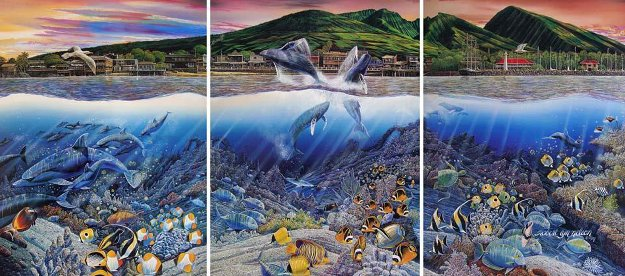Lahaina Rhythm Land And Sea Triptych 1987