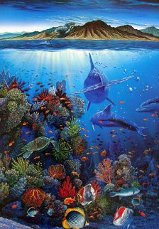 Red Sea Sirens - Ocean Trilogy 1990 W Remarque Limited Edition Print - Robert Lyn Nelson