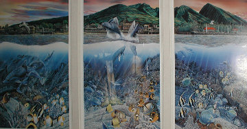 Lahaina Rhythm Land and Sea Triptych Limited Edition Print - Robert Lyn Nelson