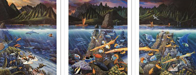 Chant to Nature Triptych 1988 Limited Edition Print by Robert Lyn Nelson