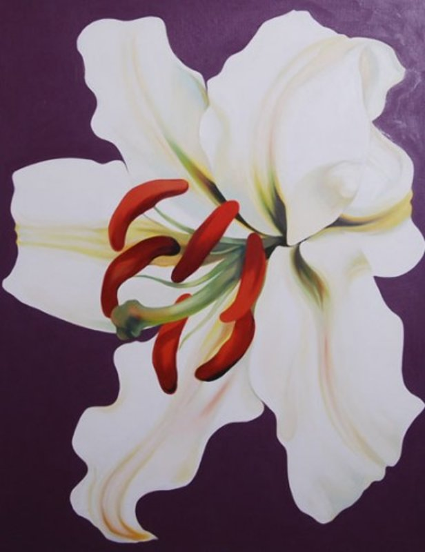White Lilly on Violet  1971 42x33