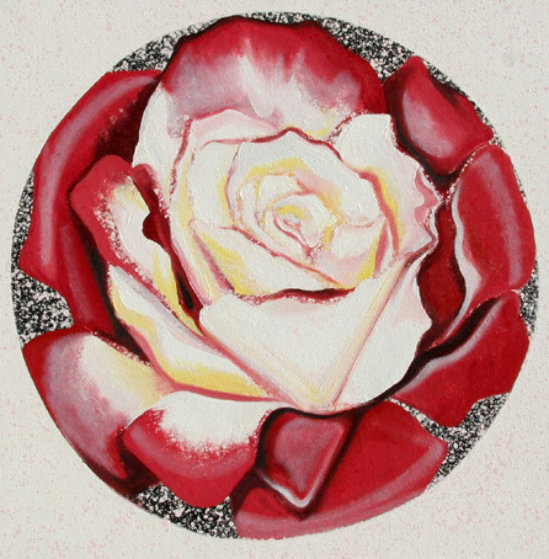 Red And White Rose 1982 26x26