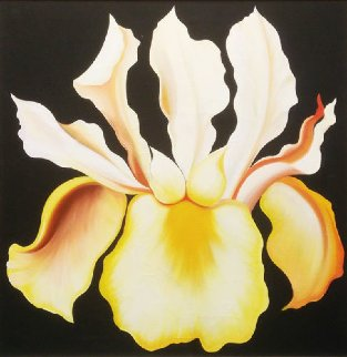 Japanese Iris 1974 26x26 Original Painting - Lowell Blair Nesbitt