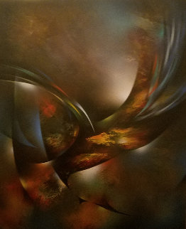 Autumn Wind 44x36 Original Painting - Leonardo Nierman