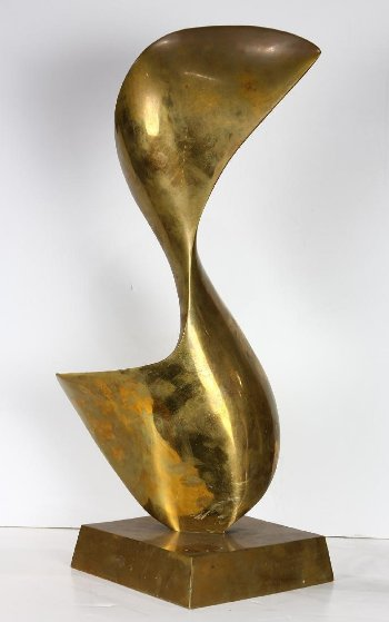 Illusion Bronze Sculpture 1987 22 in