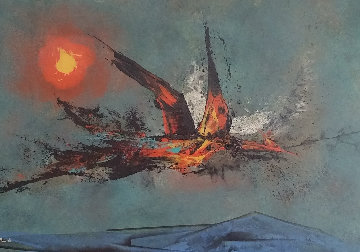 Firebird 1962 22x30   Original Painting - Leonardo Nierman