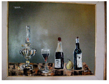Still Life 1965 (Very Rare!) 19x23 Original Painting - Leonardo Nierman