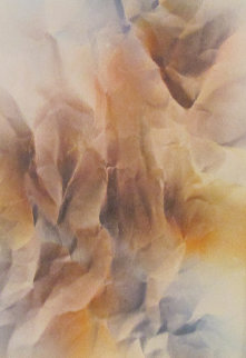 Erosion Watercolor 1979 19x25 Watercolor - Leonardo Nierman