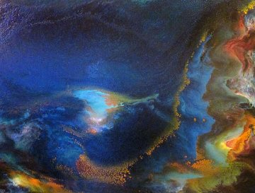 Storm At Sea 1968 39x31 Original Painting - Leonardo Nierman