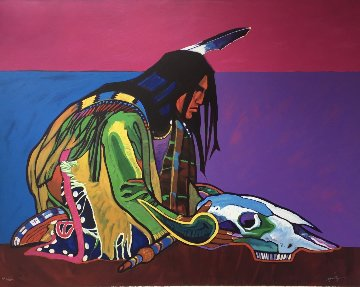 Prayer For the Return of the Buffalo 1998 Limited Edition Print - John Nieto