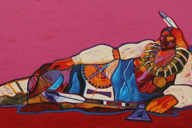 Reclining Ponca Chief 1997