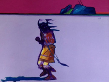 Eagle Dancer 1984 30x40 Original Painting - John Nieto