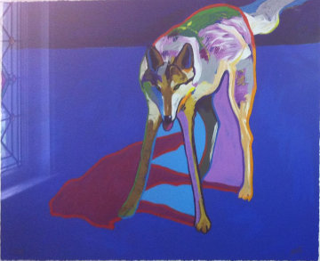 Wolf 1999 Embellished Limited Edition Print - John Nieto