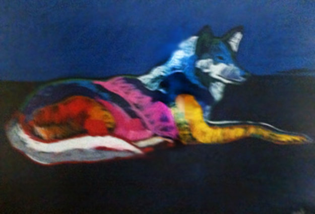 Wolf Lying Down 1998 Embellished