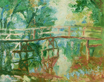 Bridge 2010 40x42 Original Painting - Robert Nizamov