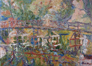 Bridge 2010 40x55 Original Painting - Robert Nizamov