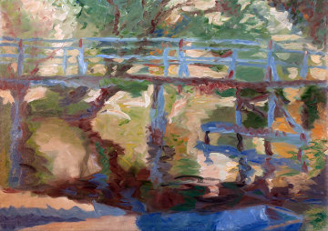 Bridge II 2010 Original Painting - Robert Nizamov