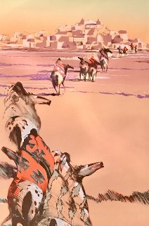 Into Day Indian Horses 1995 Limited Edition Print - B.C. Nowlin