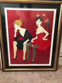 Ladies in  Red 1983 Limited Edition Print - Philippe Noyer