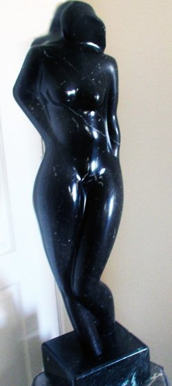 Nude Female Marble Sculpture 1984 30 in
