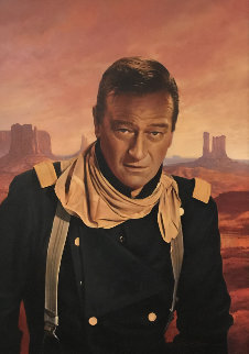John Wayne - From Movie She Wore a Yellow Ribbon 41x31 Original Painting - Greg Olsen