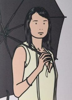 Hijiri With Umbrella: Twenty-Six Portraits 2006 Limited Edition Print - Julian Opie