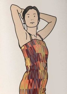 Anya With Cocktail Dress: Twenty-Six Portraits 2006 Limited Edition Print - Julian Opie
