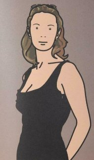 Monique With Evening Dress: Twenty-Six Portraits 2006 Limited Edition Print - Julian Opie