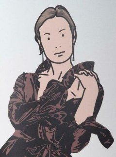 Anya With Hands Together: Twenty-Six Portraits 2006 Limited Edition Print - Julian Opie