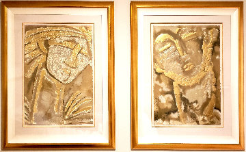 Classical Expressions -  Poeta & Guardian (Suite of 2)  Limited Edition Print - Agudelo-Botero Orlando (Orlando A.B.)