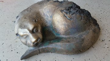 River Siesta - Quiet Otter Bronze Sculpture 24 in Sculpture - Leo E. Osborne
