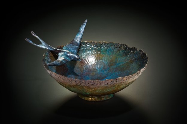 Ceremonial Vessel Bronze Sculpture 2013