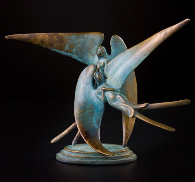 Lunar Spirits Bronze Sculpture 12 in