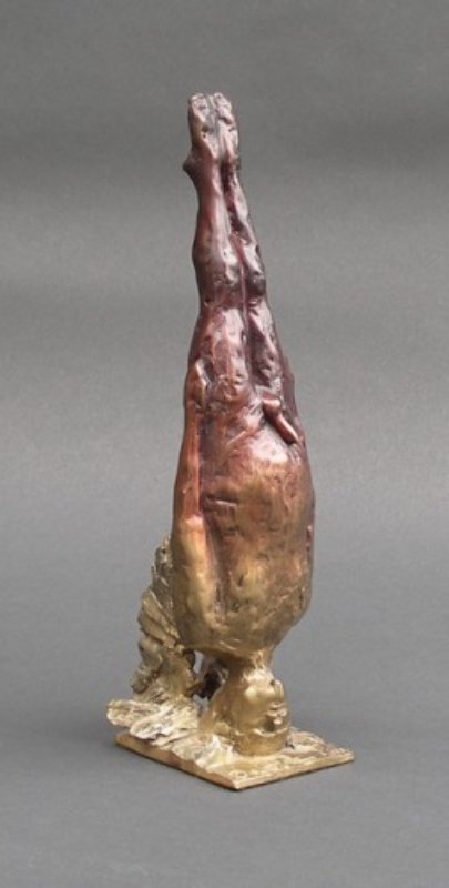 Meditating Angel Bronze Sculpture 11 in